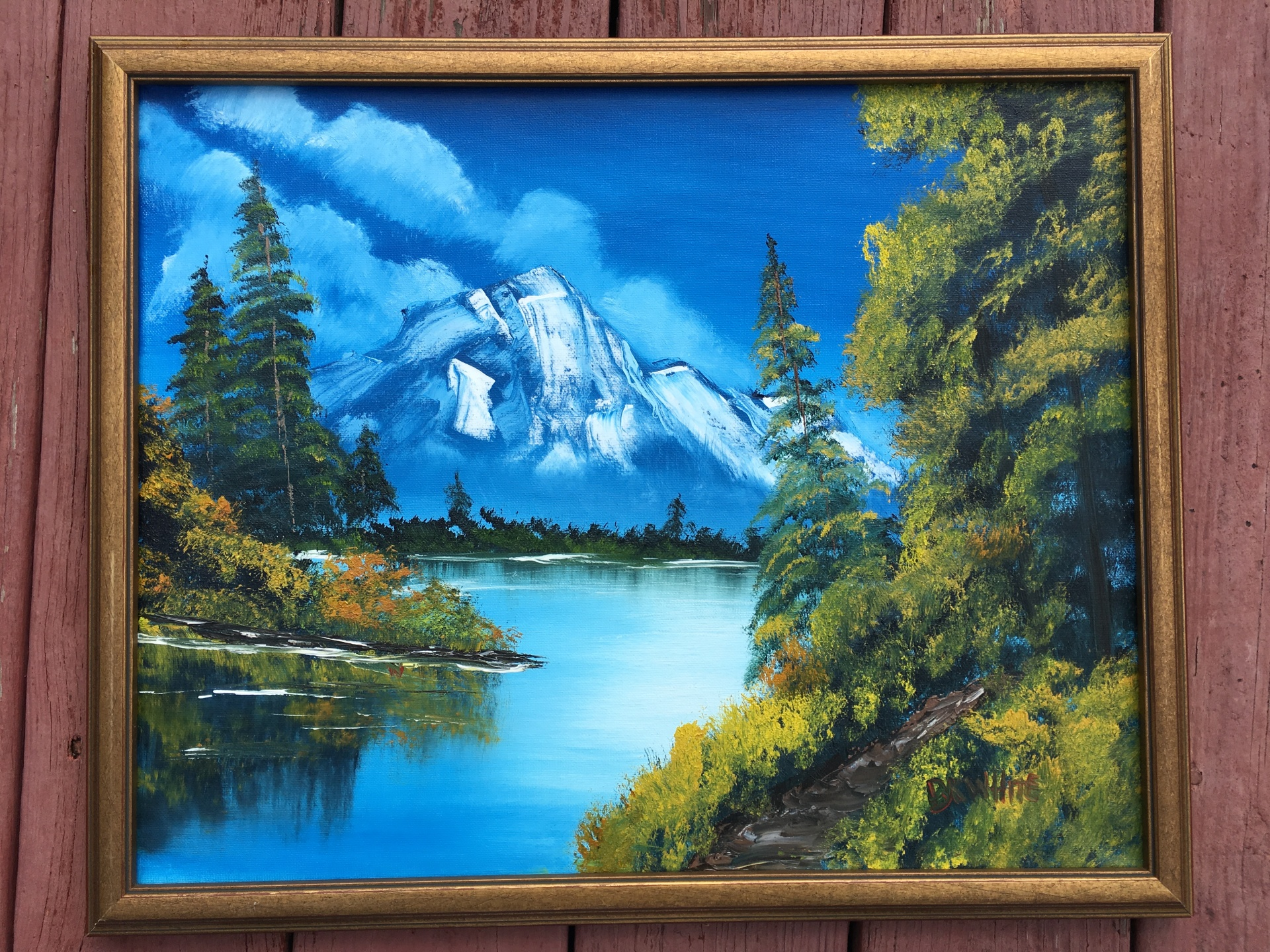 gift, mountain, nature, fine art, painting, travel,